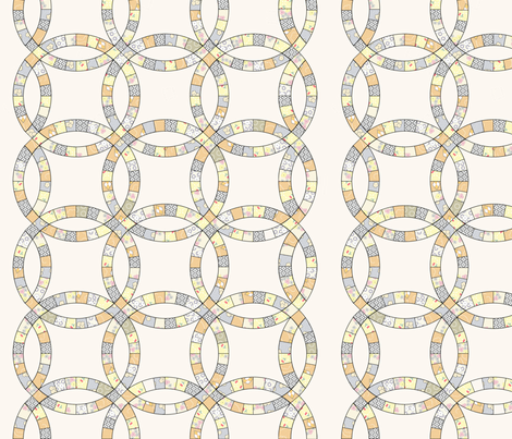 Cressie's Quilt Runner fabric by jumping_monkeys on Spoonflower - custom fabric