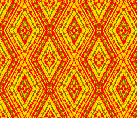 red yellow diamond fabric by bettinablue_designs on Spoonflower - custom fabric
