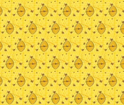 HONEYCOMB HARVEST fabric by bluevelvet on Spoonflower - custom fabric