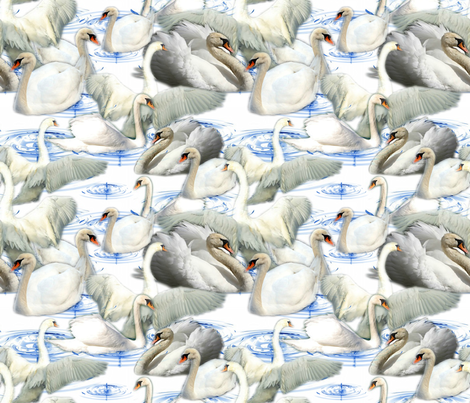 SWAN LAKE fabric by bluevelvet on Spoonflower - custom fabric