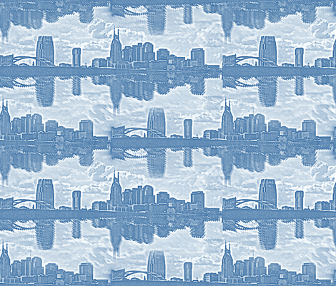 Nashville Flood Toile fabric by peacoquettedesigns on Spoonflower - custom fabric