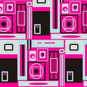 Atomic  House - pink