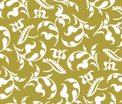 Bloomsbury Mustard fabric by alicia_vance on Spoonflower - custom fabric