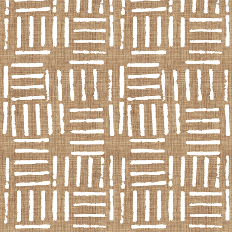 Wicket Press - Tan fabric by kristopherk on Spoonflower - custom fabric