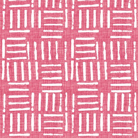 Wicket Press - Pink fabric by kristopherk on Spoonflower - custom fabric