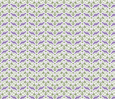smileybee green lilac 5x fabric by glimmericks on Spoonflower - custom fabric