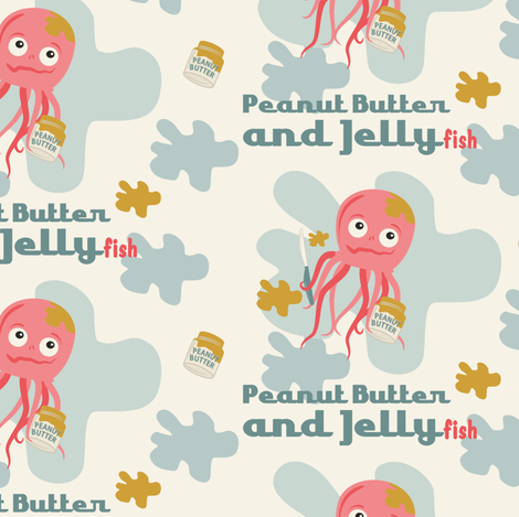 Peanut Butter and Jellyfish fabric by retrorudolphs on Spoonflower - custom fabric