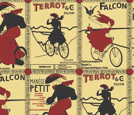 French bicycles fabric by janelle_wooten on Spoonflower - custom fabric