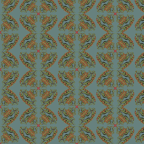 Victorian India (Blue) fabric by david_kent_collections on Spoonflower - custom fabric