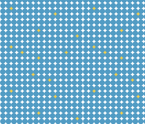 Starry_Night_Blue_Yellow fabric by designedtoat on Spoonflower - custom fabric