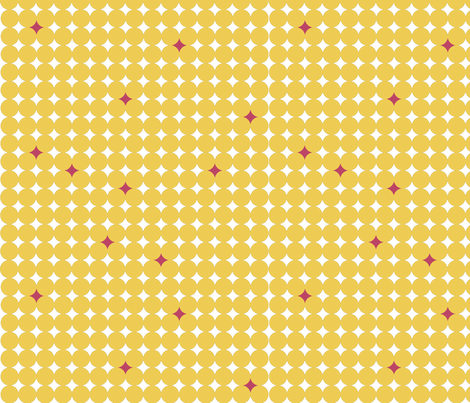 Starry_Night_Yellow_Pink fabric by designedtoat on Spoonflower - custom fabric
