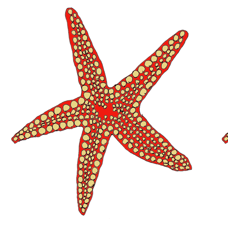 Red Star fabric by wiccked on Spoonflower - custom fabric