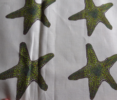 Green Star on cream