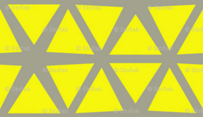 Triangles Lemon on Grey