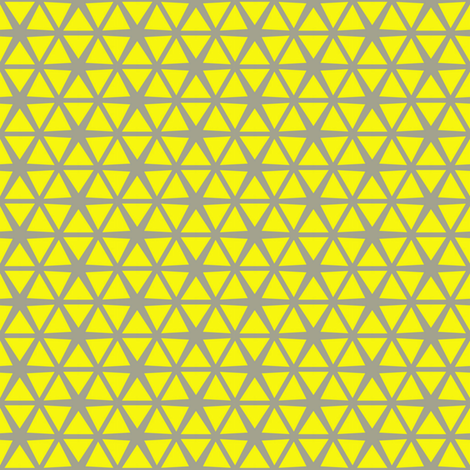 Triangles Lemon on Grey fabric by stoflab on Spoonflower - custom fabric