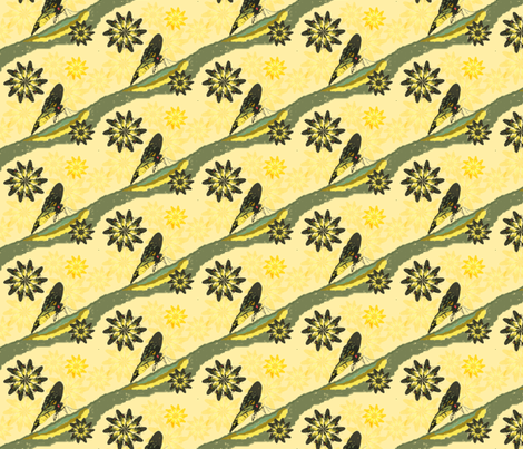 BUTTERFLOWER fabric by upcyclepatch on Spoonflower - custom fabric