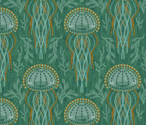 Jumpin' Jellyfish fabric by cjldesigns on Spoonflower - custom fabric