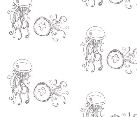 jellyfish fabric by madamsalami on Spoonflower - custom fabric