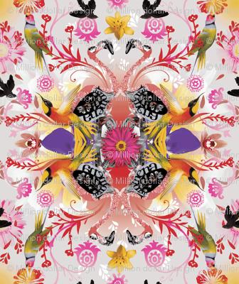 Kaleidoscope Flamingos