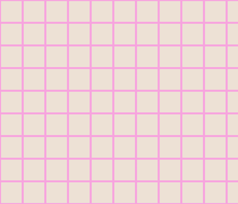 pink tan grid fabric by cristinapires on Spoonflower - custom fabric