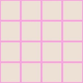 pink tan grid