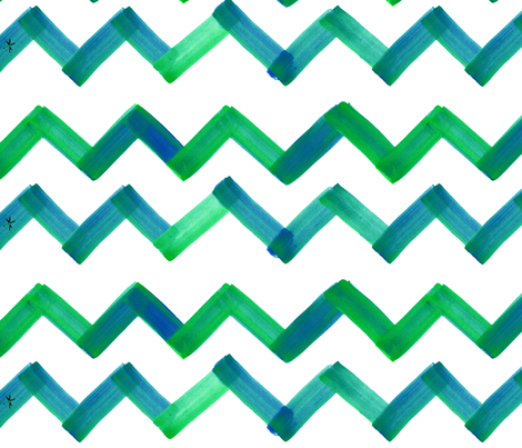 cestlaviv_greenblue 18  ultra fabric by cest_la_viv on Spoonflower - custom fabric