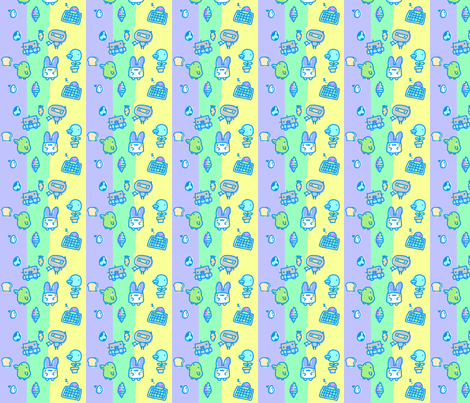 Kawaii Creatures fabric by lovelylatte on Spoonflower - custom fabric