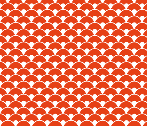 Orange sea fabric by wantit on Spoonflower - custom fabric