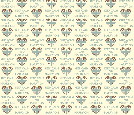 Keep Calm and Marry On small print fabric by featheredneststudio on Spoonflower - custom fabric