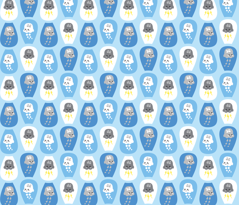 Cloudy jellyfishes fabric by petitspixels on Spoonflower - custom fabric