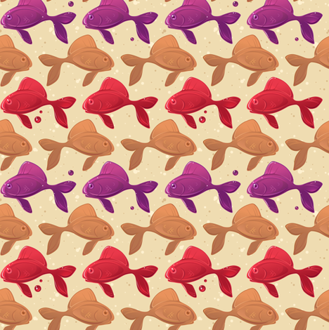 Peanut butter and jelly fish fabric by theboerwar on Spoonflower - custom fabric