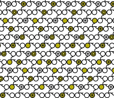 Simple Bicycles Green fabric by modgeek on Spoonflower - custom fabric