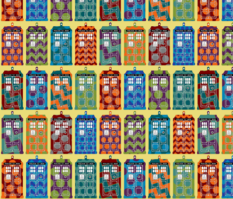 cool tardis fabric by scrummy on Spoonflower - custom fabric