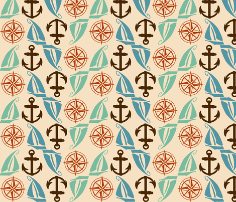 Nautical Medley fabric by kellyw on Spoonflower - custom fabric