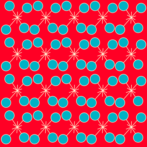 Red sparkle in her eyes fabric by crycepaul on Spoonflower - custom fabric