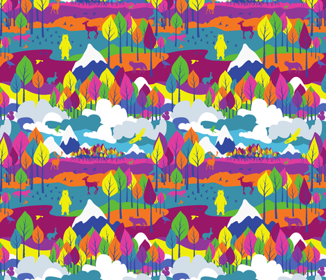 Color Mountain fabric by deerlyyours on Spoonflower - custom fabric