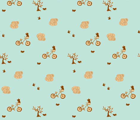 bicycle brown fabric by 2reneevk on Spoonflower - custom fabric