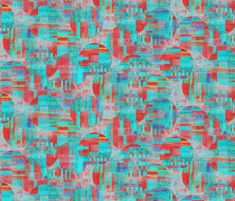 (NOW LARGER) Sizzling circle work by Su_G fabric by su_g on Spoonflower - custom fabric