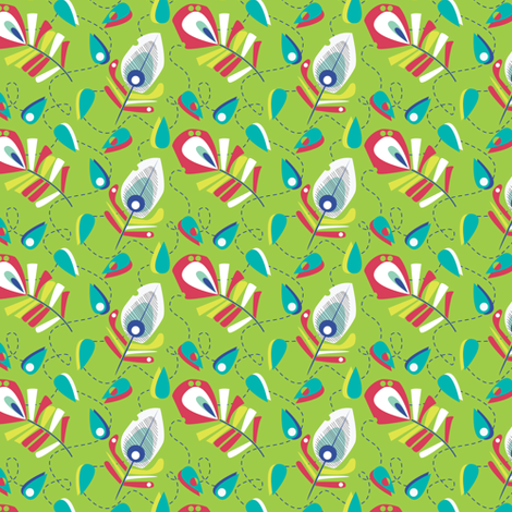 PEacock_coordinates fabric by gsonge on Spoonflower - custom fabric