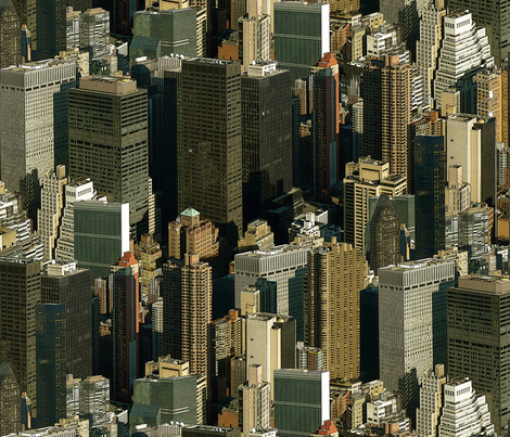 NYC Warm fabric by chris on Spoonflower - custom fabric