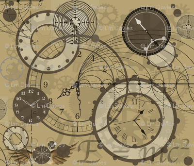 time Is A Man Made Concept Sepia