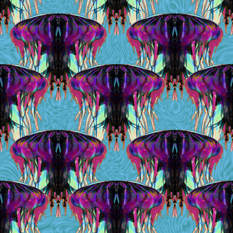 JellyFishInvasion fabric by grannynan on Spoonflower - custom fabric