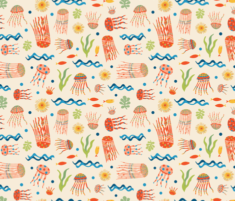 Jellyfish Circus fabric by gracedesign on Spoonflower - custom fabric