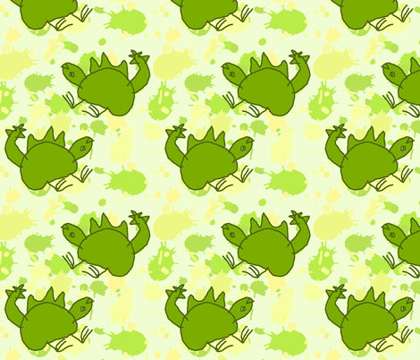 Fiaba Stegosaurus fabric by fiaba_fabrics on Spoonflower - custom fabric