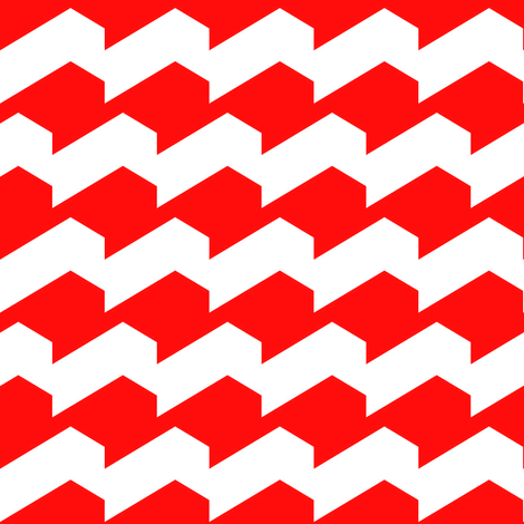Broken Chevron Red fabric by stoflab on Spoonflower - custom fabric