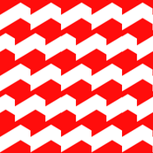 Broken Chevron Red