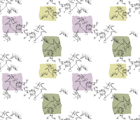 Silly (String) Billy Goats Gruff fabric by donna_kallner on Spoonflower - custom fabric