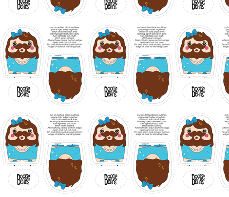 Bearded Lady Plush fabric by kfay on Spoonflower - custom fabric
