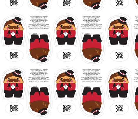Ringmaster Plush fabric by kfay on Spoonflower - custom fabric