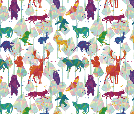 Tree Whisper fabric by deerlyyours on Spoonflower - custom fabric